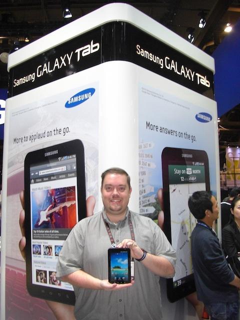 Chris Rauschnot and Samsung Galaxy Tab CES 2011
