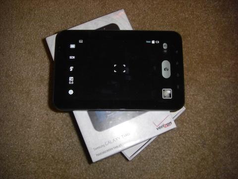 Samsung Galaxy Tab Camera Controls