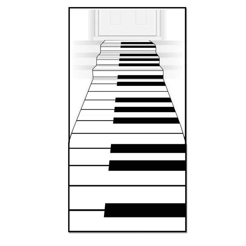 tapis intisse clavier de piano