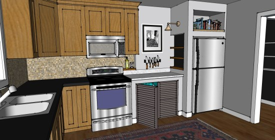 kitchen corner wall