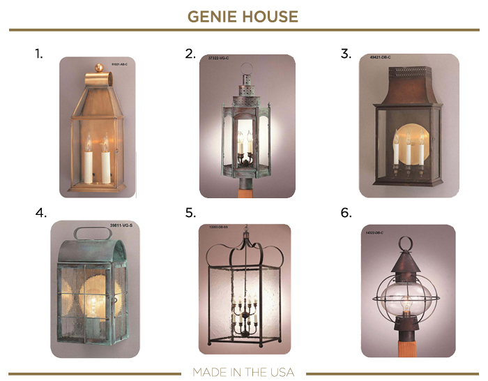 Made in the USA LIGHTING fixtures_GENIE HOUSE