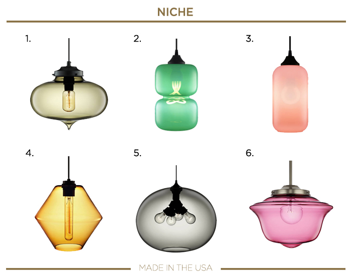 Made in the USA LIGHTING fixtures_NICHE