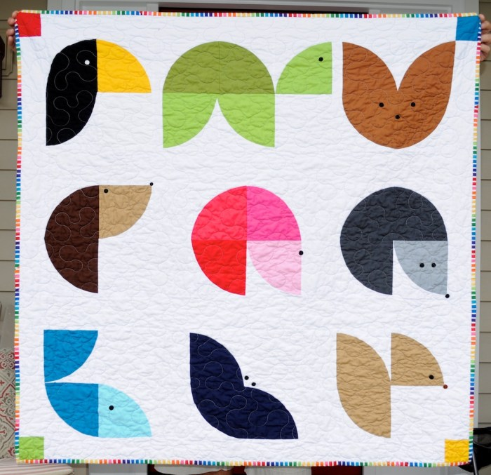 Wee Animal Quilt Tutorial by Dani Miller. Free tutorial on blog.