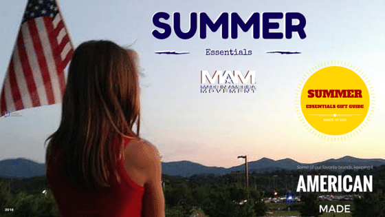 Made in USA Summer Essentials Gift Guide, American made gifts, Made in USA gifts, summer gifts, made in usa grills, made in usa bathing suit, made in usa jeans, american made grills