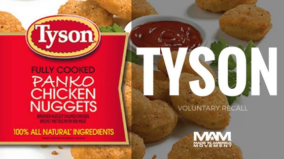 Tyson Foods Voluntarily Recalls Chicken Nuggets