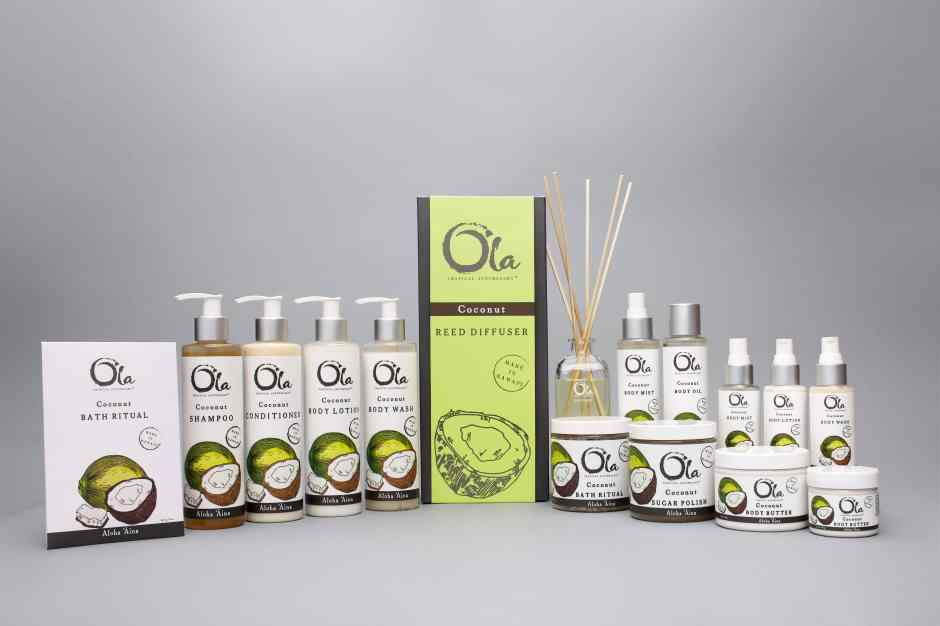 Artisan Wild Crafted Natural Beauty Products from This Land of Aloha, Hawaiian Body Products, Ola Tropical Apothecary, made in usa skin care, american made skin care, organic skin care, Coconut collection