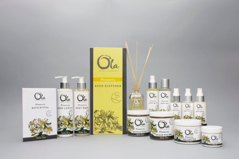 Artisan Wild Crafted Natural Beauty Products from This Land of Aloha, Hawaiian Body Products, Ola Tropical Apothecary, made in usa skin care, american made skin care, organic skin care, Plumeria Collection