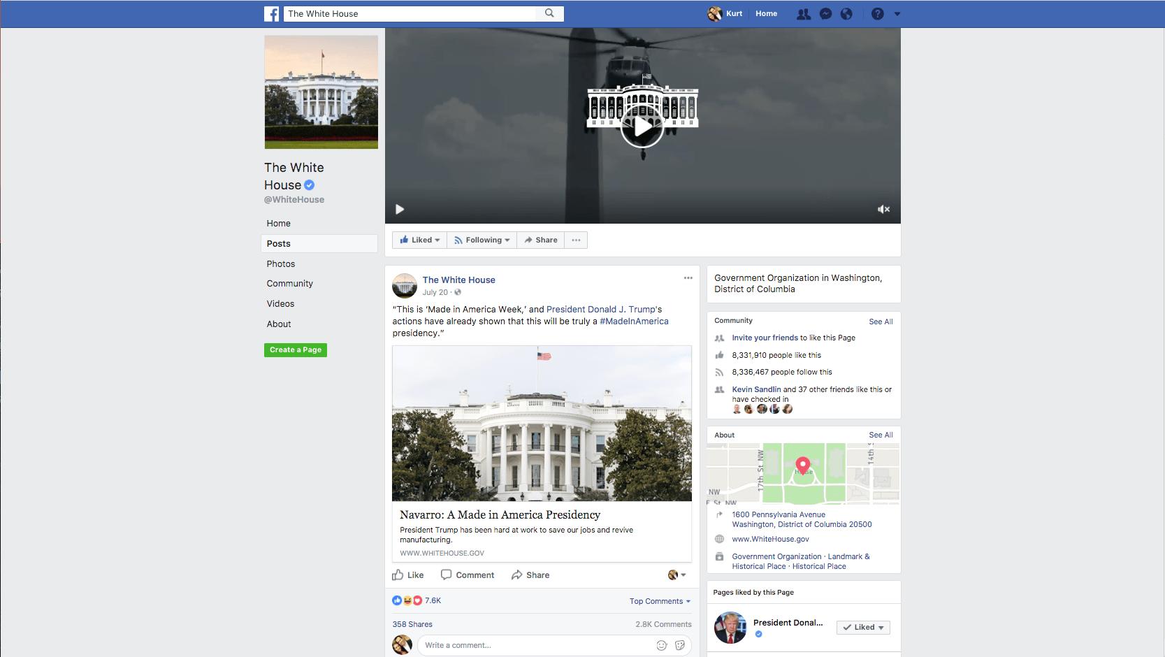 White House Facebook post Made in America Week - Navarro article 9b
