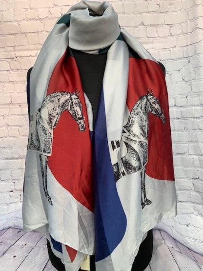 Equestrian Design Silk Scarf