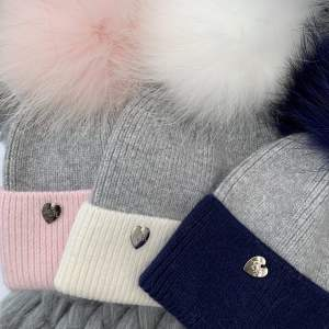 Kids Luxury Bobble Hat with fur pom pom