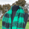 Chequered Print Blanket Wrap