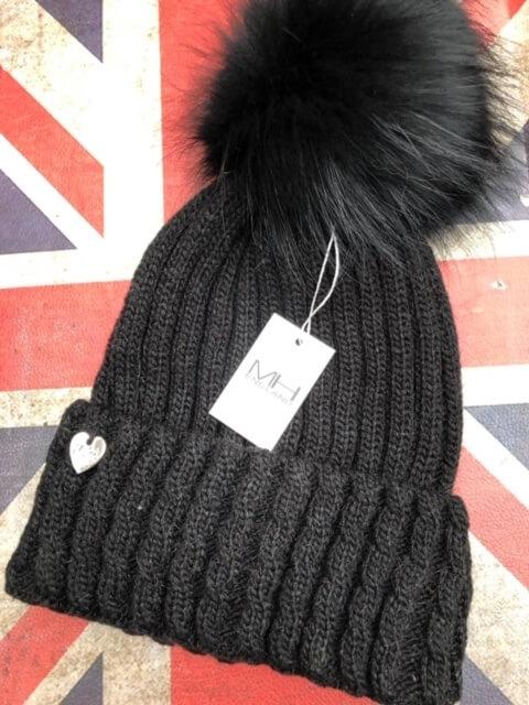 luxury cashmere bobble hat
