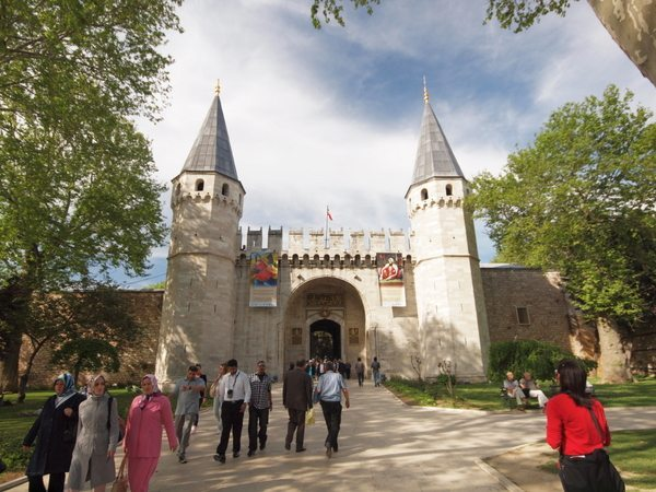 The gate of Top Kapi palace in Istanbul