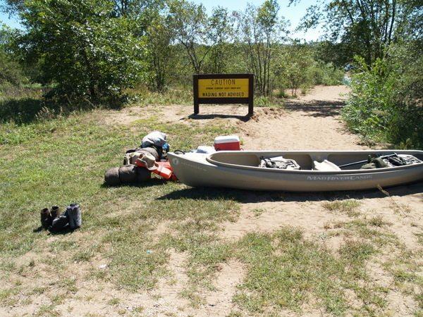 Canoe camping on Wisconsin River Sauk City