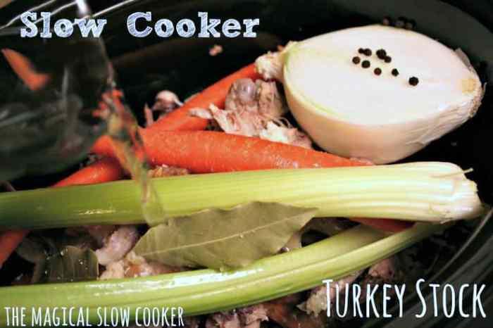 Slow Cooker Turkey Stock