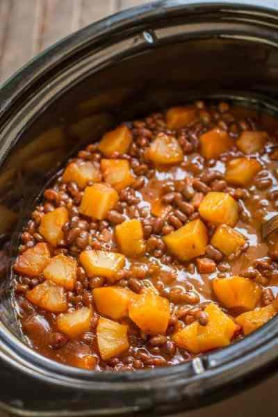 Slow Cooker Hawaiian Baked Beans