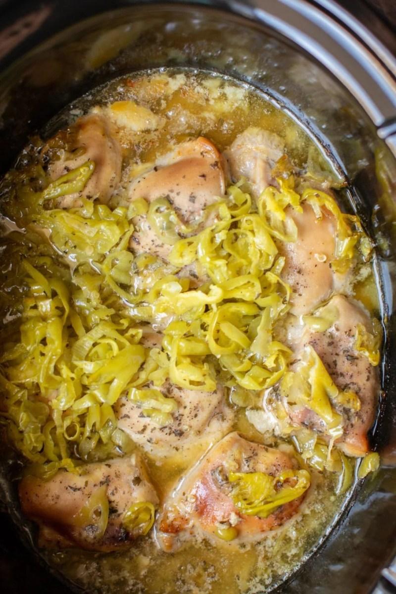 Slow Cooker Mississippi Chicken