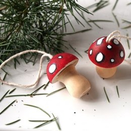 Let's make Toadstool Ornaments.
