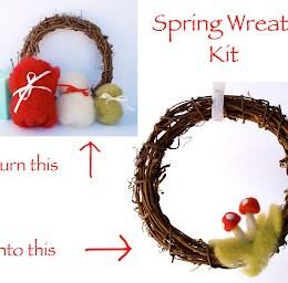 Tutorial :: Needle Felted Spring Wreath