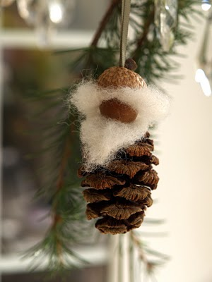 Pine cone Grandmother gnome Christmas ornament
