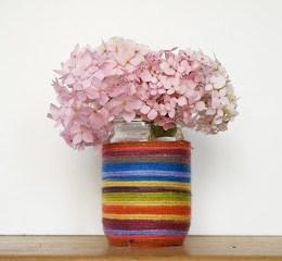 Make a Rainbow Mason Jar Flower Vase