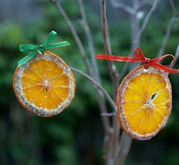 Handmade Christmas Ornaments :: Dried Oranges