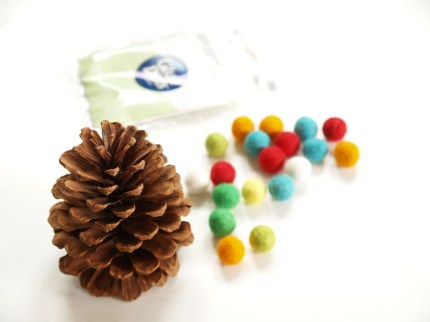 Colorful Wool Felt Pine Cone Christmas Tree : www.theMagicOnions.com