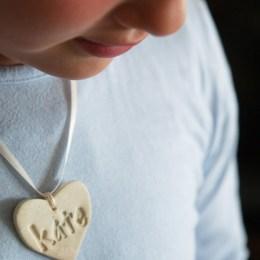 Handmade Valentine's Day Gift : Heart Necklace