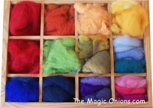 Crafting with Natural Materials - Colorful Wool Felt Roving - Discovering Waldorf :: www.theMagic Onions.com