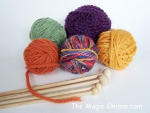 Crafting with Natural Materials - Wood and Cotton Yarns - Discovering Waldorf :: www.theMagic Onions.com
