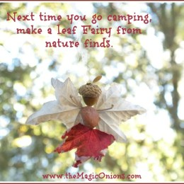 Let's Make an Autumn Leaf Acorn Fairy with Fall Leaves