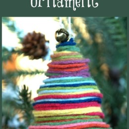 Colorful Felt Christmas Tree Ornament Tutorial