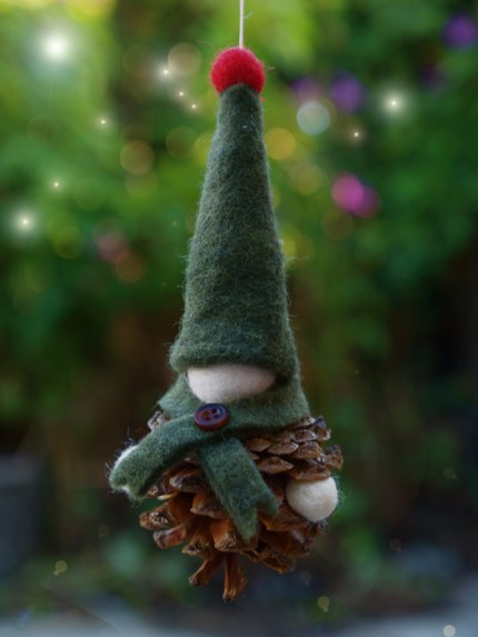Pine Cone Gnome Christmas Ornament : www.theMagicOnions.com