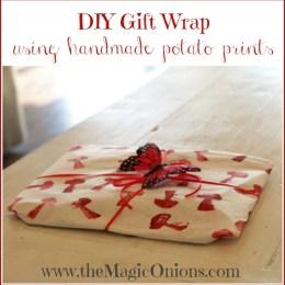 Potato Printed Gift Wrap