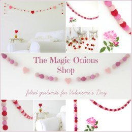 Felted Garlands for Valentine's Day