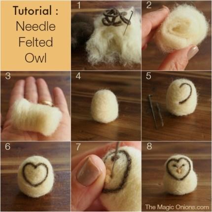 Needle Felted Owl Tutorial DIY - The Magic Onions.com