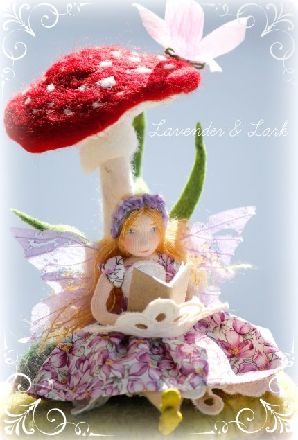 First Prize : Felted Spring Fairy : Fairy Garden Contest : The Magic Onions.com