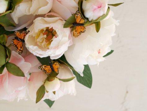 Butterfly and Silk Flower Bridal Bouquet : Fairyfolk Weddings : www.fairyfolkweddings.etsy.com