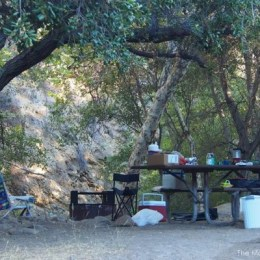 Camping in the Wheeler Gorge Forest, Ojai, CA