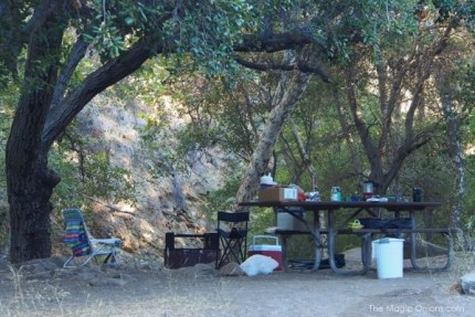 Camping in Wheeler Gorge, CA : www.theMagicOnions.com