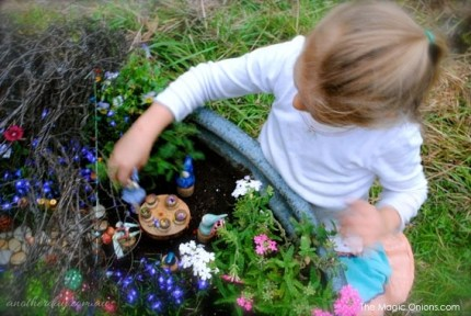 Second Place Winner : 2014 Fairy Garden Contest : Kid Friendly Fairy Garden :  The Magic Onions : www.theMagicOnions.com