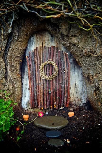 Stick Fairy Door : Fairy Garden Contest Winner : The Magic Onions : www.theMagicOnions.com