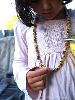Colorful Harvest Corn Necklace Tutorial : The Magic Onions Blog
