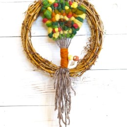 Weaving an Autumn Tapestry with Wool Roving