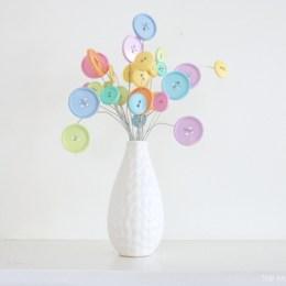 Button Flower Bouquet : DIY Crafting Tutorail