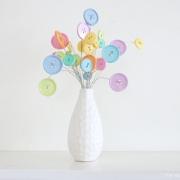 Button Flower Bouquet : DIY Crafting Tutorail