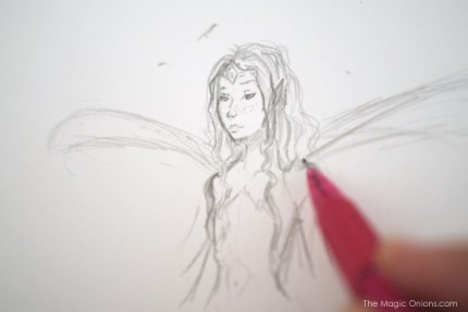Fairy Drawing : Work In Progress - www.theMagicOnions.com