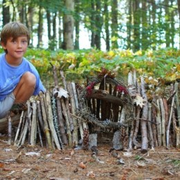 The Enchanting Fairy Houses of Mackworth Island, Maine.