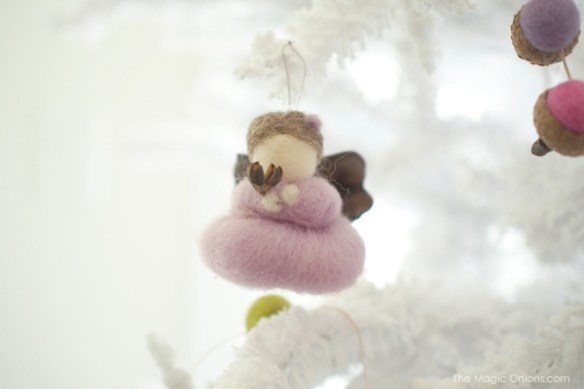Beautiful Needle Felted Fairy Christmas Tree Ornaments : www.theMagicOnions.com