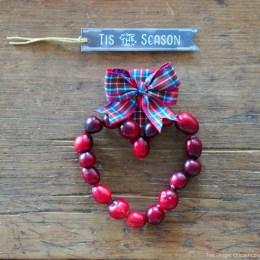 Cranberry Heart Ornaments :: DIY Tutorial